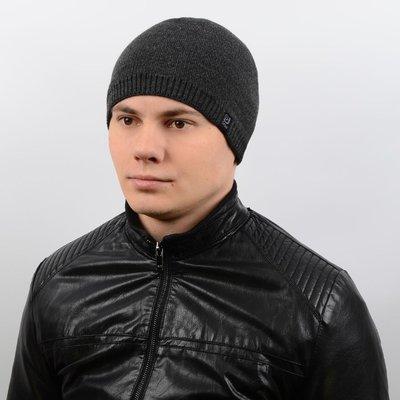 Классическая мужская шапка на флисе 55-59 шерсть, разные цвета