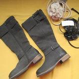 Новые качественные кожаные демисезонные сапоги,р.38,Индия,Mantaray