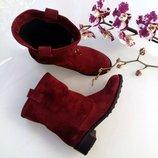 Женские кожаные ботинки Разные цвета Демисезонные натуральная кожа и замша