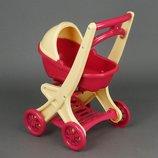 Кукольная Коляска с люлькой для пупса 0121/01 Долони люлька Doloni Коляска для кукол с люлькой