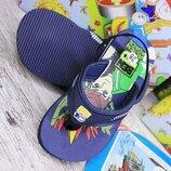Недорого Летние пляжные шлепки босоножки для мальчика с мультяшным рисунком р. 25, 27