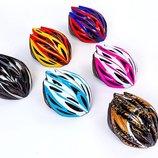 Защитный шлем с механизмом регулировки 5612, 6 цветов размер 54-56см, 12 отверстий