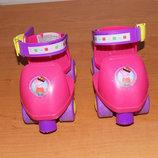 Фирменные четырехколесные ролики для девочки 15-20 см