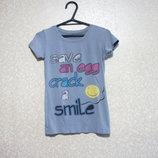 Футболка рост 132-142, майка, SAVE AN EGG CRACK A SMILE спорт мальчик девочка распродажа, лето