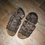 Босоножки мужские коричневые кожаные нубук 28,5 см