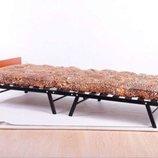Кровать Раскладушка На Буковых Ламелях с Матрасом в Наличии Доставка Сегодня