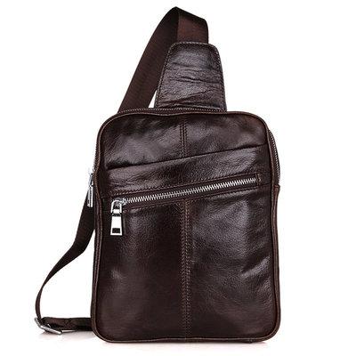 Рюкзак сумка через плече Стиляга 100% натуральная кожа