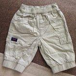 0-3 мес новые крутые штаны штанишки на трикотажной подкладке, хлопок