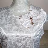 Красивое Белое Платье С Оригинальным Декором