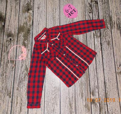 Гламурная рубашка Primark для девочки 6-7 лет. 116-122 см