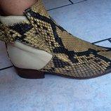ботинки кожа змеи 38р