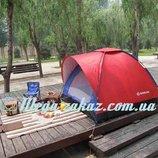 Палатка туристическая трехместная кемпинговая SY-010 2х2х1,35 м