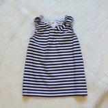 Стильная майка для девочки. H&M. Размер 12-18 месяцев. Состояние идеальное