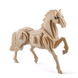 Эко пазл пазлы 3D 3Д фанера дерево лошадь мебель дом машина вертолёт игра игрушка модель конструктор