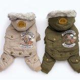 Теплый зимний комбинезон для собак XS - 2XL