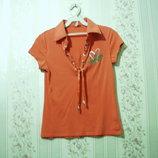 Футболка р.38-42, LAU RA женская хлопок блуза, майка, тениска, девочка распродажа, лето