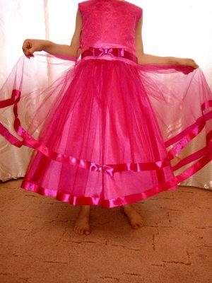 яркое нарядное платье Бантик в наличии