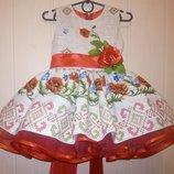 Платье детское украинское пышное