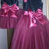 Нарядное платье с паетками в разном цвете под заказ