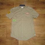коттоновая рубашка Zara размер М-Л