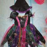Карнавальное платье со шляпой на Хеллоуин Ladybird 1-2г ведьмочка колдунья
