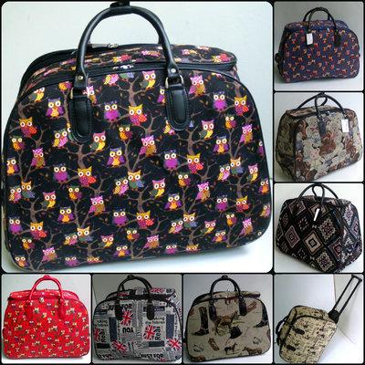50287d954cd1 Тканевая дорожная сумка с выдвижной ручкой на колёсах 53 см. в расцветках