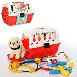 Игровой набор доктор 231, собачка в чемодане.