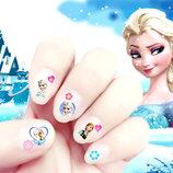 Наклейки для ногтей Холодное сердце, Минни, Китти, Пеппа, София