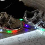 Кроссовки для девочки с подсветкой 19-29 р.Венгрия Скидка