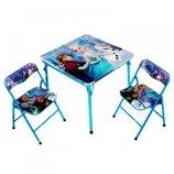 Раскладной стол и 2 стула