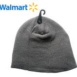 Шапки деми на 7-13 лет Walmart Америка серая двойная вязка
