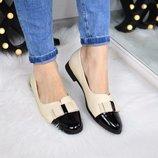Женские туфли лоферы бант