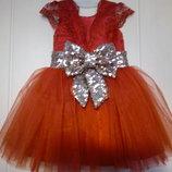 нарядное платье с кружевом и паетками