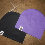 Осенняя шапочка двойная