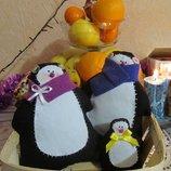 Цена за 3. пингвины мягкий пингвин пингвинчик ручная работа