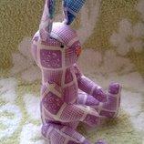 Игрушка кролик зайчик шарнирный ручная работа