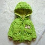 Яркая демисезонная куртка для мальчика. Albimini. Размер 6-9 месяцев. Состояние хорошее