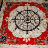 платок Codello оригинал шелк принт Парусник 86Х86