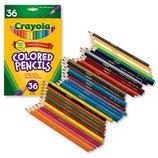 Crayola Цветные карандаши 36 цветов Colored Pencils, Long 36 ct