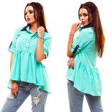 Стильная женская блуза 210 Оборка Воротничок Контраст в расцветках.