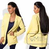 Женский стильный летний пиджак 193 Креп Классика в расцветках.