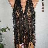 Новый черный кружевной шарф