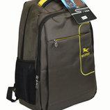 Большой крепкий рюкзак для школы и прогулок зеленый