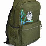 Универсальный рюкзак для школы и прогулок с хаки