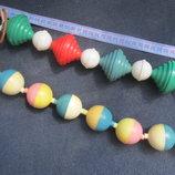 Винтажная коллекционная игрушка погремушка Растяжка на коляску ссср