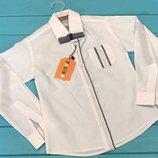 Школьная белая рубашка на мальчика Размеры 6-13 лет Турция Хлопок