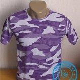 Стильная футболка Камуфляж фиолет