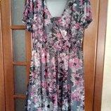 Летнее платье большого размера 64-66 26-28