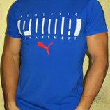 Мужская футболка Puma синий - электрик.