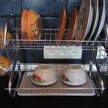 Красивая качественная сушилка для посуды. Крепление на стол и стену
